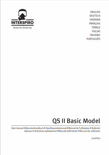 Firefighting user manual: 31267F QS II Basic model user manual