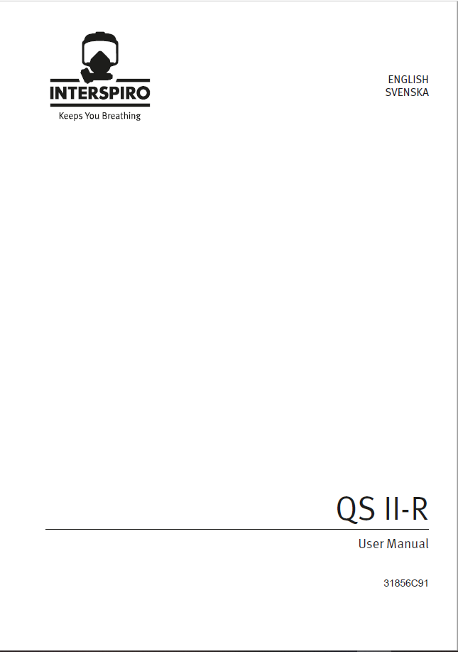 Firefighting user manual: 31856C QS II-R manual