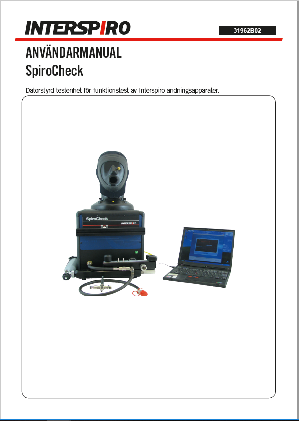 User manual: 31962B SpiroCheck user manual