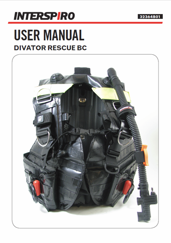 Diving user manual: 32364B - Divator Rescue BC