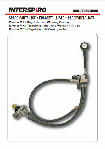 Diving - Module 2-1 - Spare parts & Service kits for MKII Regulator