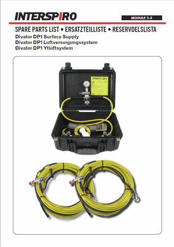 Diving - Module 2-3 - Spare parts & Service kits for DP1