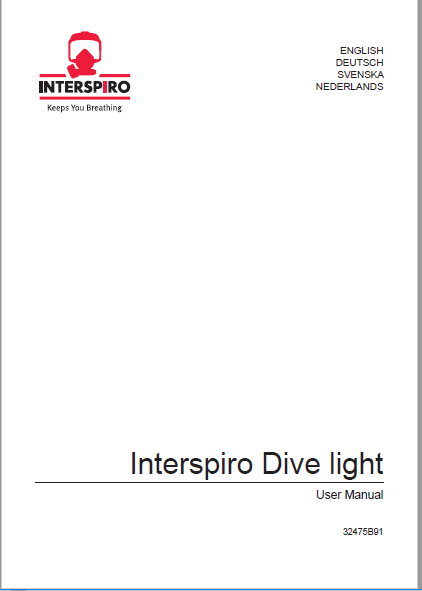 Diving user manual: 32475D - Dive light