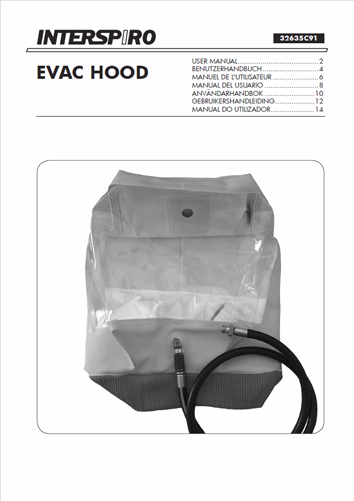 Firefighting user manual: 32635C Evac Hood user instruction