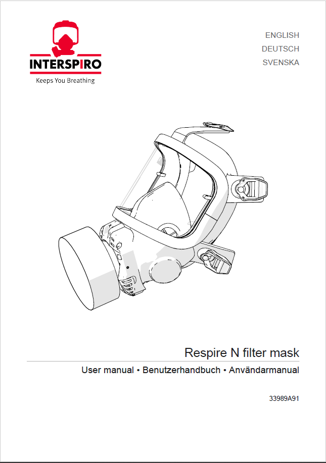 Firefighting user manual: 33989B - Respire N Filter