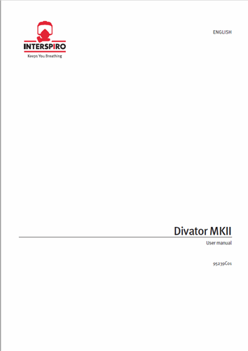 Diving user manual: 95239C - Divator MKII
