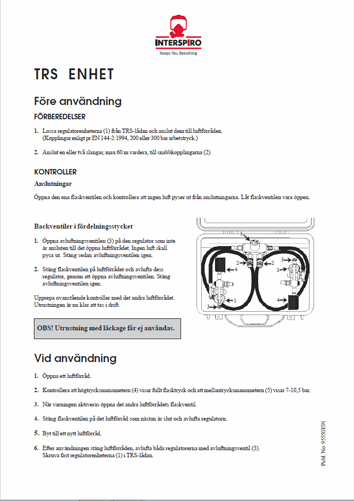 Firefighting user manual: 95550E - TRS Unit
