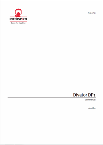 Diving user manual: 96708 - Divator DP1