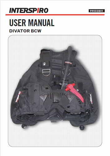 Diving user manual: 99503B - Divator BCW